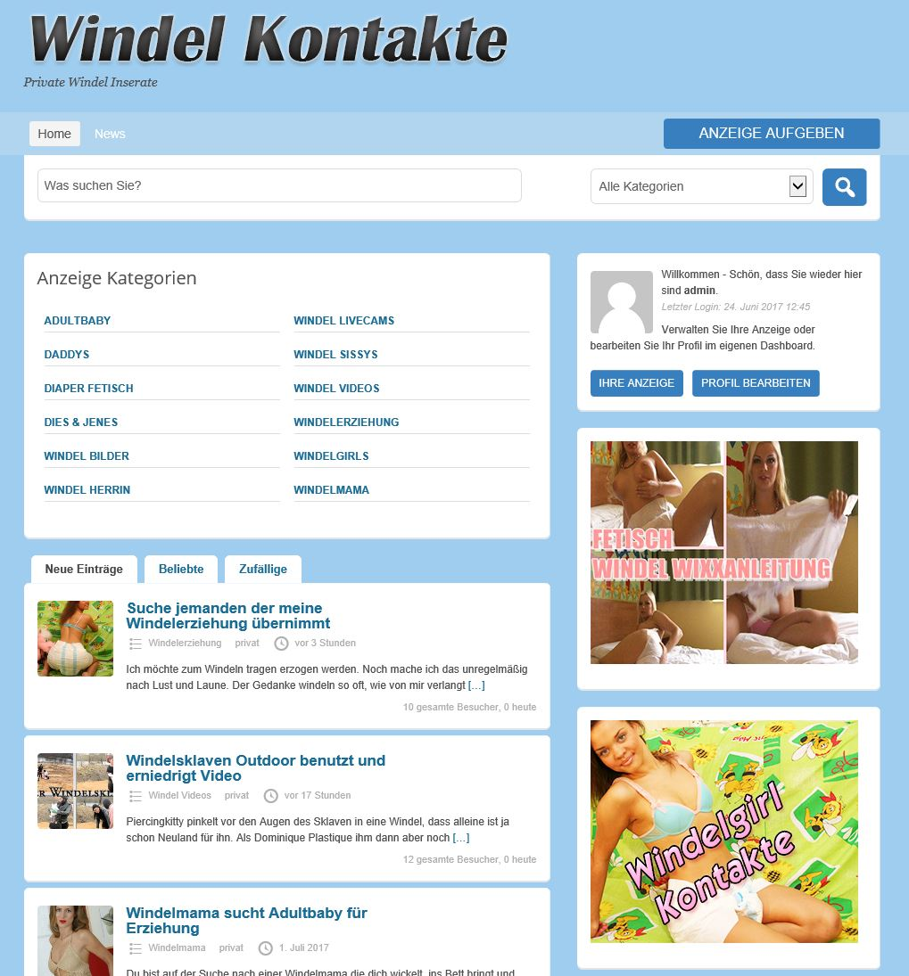 Private Windel Kontakte