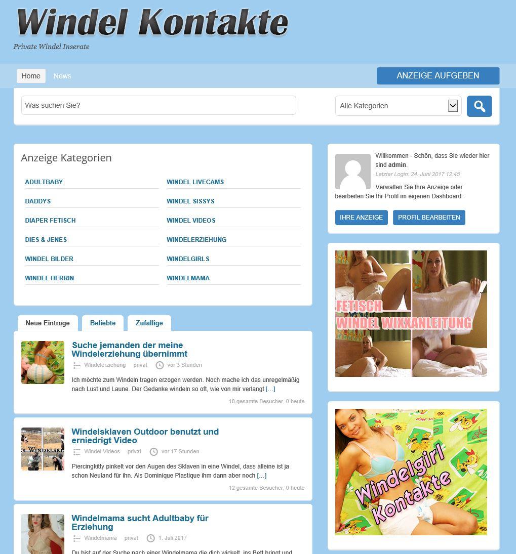 Private Windel Kontakte